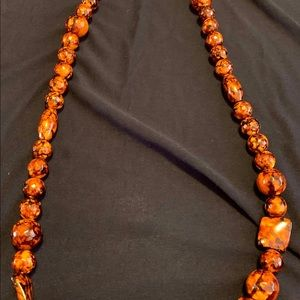 "Jewelry - Leopard Print Necklace 38"" long."